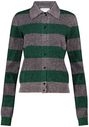 Victoria Beckham Striped cotton-blend cardigan