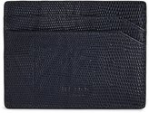 Reiss Hellon Print - Textured Leather Card Holder in Blue, Mens