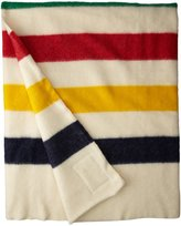 Woolrich Hudson Bay 8 Point Blanket Natural with Multi Stripes