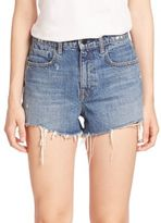 Alexander Wang Denim x Bite High-Rise Frayed Denim Shorts