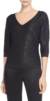 St. John Ebele Sequined Knit Top