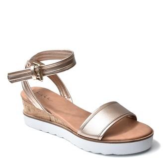 Nicole Miller Jasper White Sole Wedge Sandal