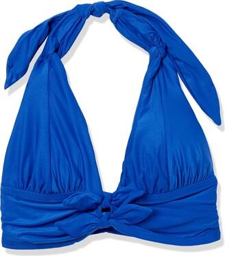 Carmen Marc Valvo Women's Halter Bikni Top Swimsuit with Front Tie Detail