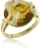 Tagliamonte Incanto Royale Citrine and Diamond 18K Gold Ring