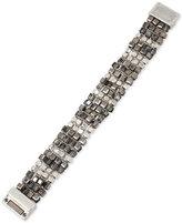 Kenneth Cole New York Silver-Tone Metallic Beaded Bracelet