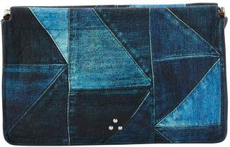 Jerome Dreyfuss Clic Clac denim clutch