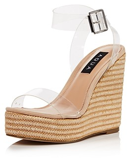 Aqua Women's Sally Espadrille Platform Wedge Sandals - 100% Exclusive