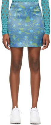 MAISIE WILEN Green and Blue Dial-Up Skirt