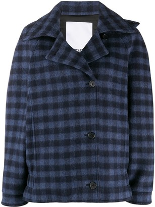 Kenzo Off-Centre Fastening Checked Jacket