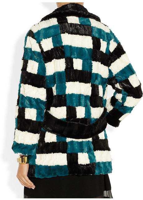 Anna Sui Patchwork faux fur coat
