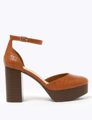 Marks and Spencer Two Part Almond Toe Ankle Strap Sandals