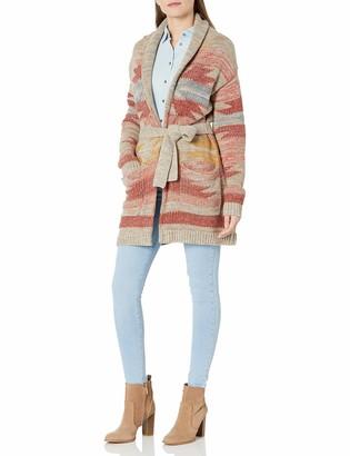 Pendleton Women's Monterey Shawl Collar Belted Cardigan Sweater