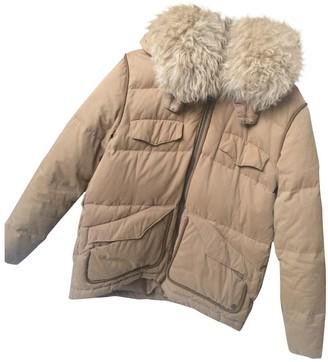 The Kooples Beige Cotton Coat for Women