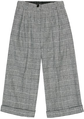Dolce & Gabbana Kids Checked wool-blend pants