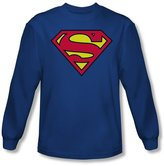 Superman Classic Logo Adult L/S T-Shirt In
