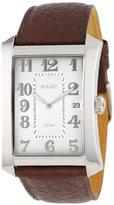 Roberto Bianci Men's P232_WHT_SIL Classic Brown Leather Strap Watch