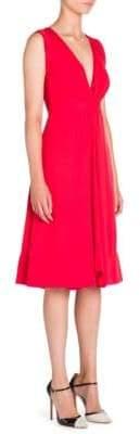 Giorgio Armani Silk V-Neck Dress