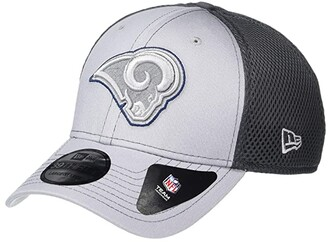 New Era NFL Grayed Out NEO 39THIRTY Flex Fit Cap - Los Angeles Rams (Gray/Black) Baseball Caps