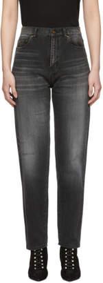 Saint Laurent Black Baggy Jeans