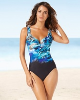 Soma Intimates Escape One Piece Swimsuit Blue