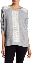 Soft Joie Long Sleeve Embroidered Knit Sweater