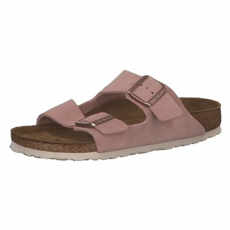 Birkenstock Sandales Arizona Sfb Cuir Suede Light Rose Womens Sandal