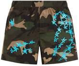 Valentino Camo StarSwim Shorts