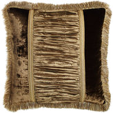Dian Austin Couture Home European Gatsby Velvet & Crushed Silk Sham with Fringe