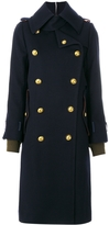 Sacai Shell-Trimmed Melton Wool Coat