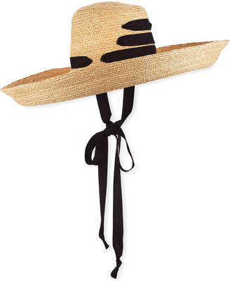 Lola Hats Espartina Raffia Sun Hat w/ Self-Tie Ribbon