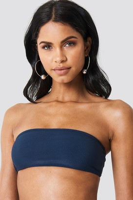 NA-KD Structured Bandeau Bikini Top Blue