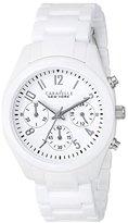 Bulova Caravelle New York by Women's 45L145 Analog Display Japanese Quartz White Watch