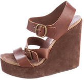 Pedro Garcia Leather Wedge Sandals