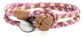 Bottega Veneta Knot Intrecciato Snakeskin And Leather Bracelet