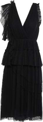 Joie Johnesha Wrap-effect Tiered Pleated Point D'esprit Dress