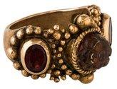 Stephen Dweck Garnets & Carved Quartz Ring