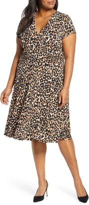 Leota Amiya Dotted Midi Dress