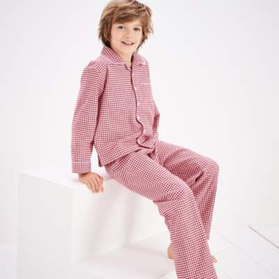 The White Company Mini Gingham Flannel Pyjamas (1-12yrs)