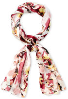 Vince Camuto Foliage and Blooms Silk Scarf