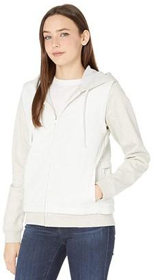 Hurley Therma Fleece Combo Hooded Full Zip Jacket (Sail 1) Women's Clothing
