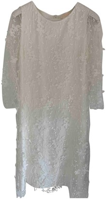 Max Mara White Lace Dress for Women