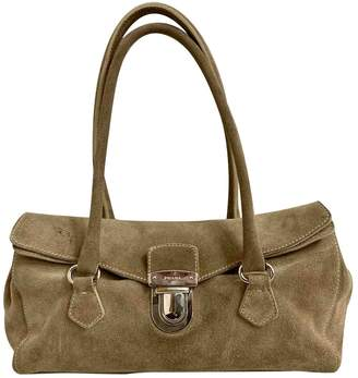 Prada Khaki Suede Handbags
