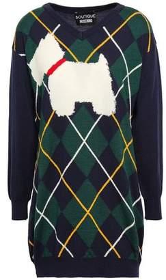 Moschino Intarsia Wool Mini Dress