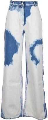 GCDS Women's White / Blue Jeans