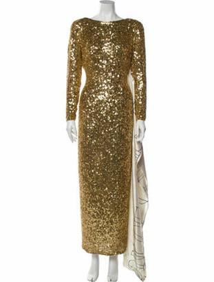 Imitation Of Christ 2020 Long Dress Gold