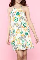 Everly Yellow Floral Dress