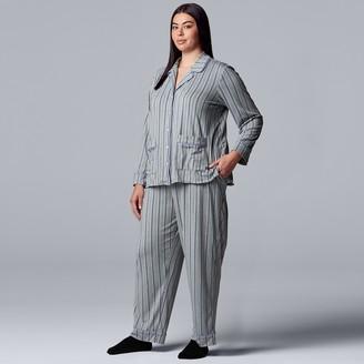Vera Wang Plus Size Simply Vera 3-Piece Pajamas & Socks Set