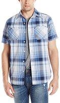 Akademiks Men's Stitch Button-Front Shirt