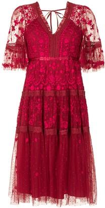 Needle & Thread Midsummer Lace embroidered midi dress