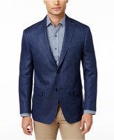 MICHAEL Michael Kors Men's Classic-Fit Dark Blue Basketweave Sport Coat